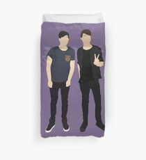 Dan and Phil Silhouettes Duvet Cover