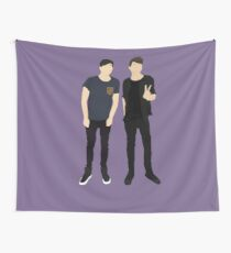 Dan and Phil Silhouettes Wall Tapestry