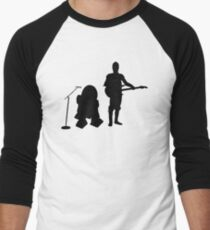 R2D2 C3PO Rock Band Men's Baseball ¾ T-Shirt