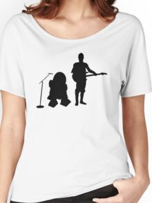 R2D2 C3PO Rock Band Women's Relaxed Fit T-Shirt