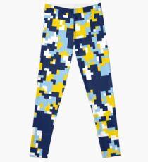 Blue & Yellow Camo Design Leggings