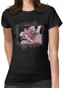 Tricyrtis Formosana named Empress Womens Fitted T-Shirt