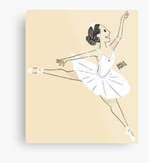 Bailarina de ballet Lámina metálica