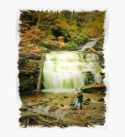 Tim at Mohican Falls Poster