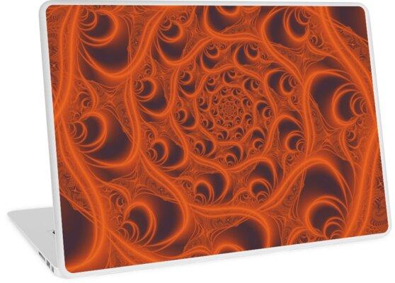 Fractal Web in Halloween Orange by charmarose
