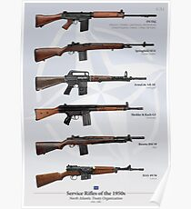 Battle Rifles of NATO Poster