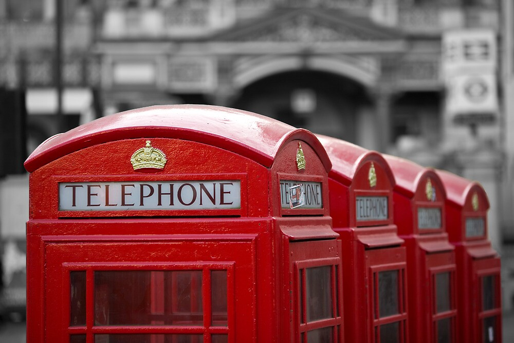 London Red - Four phones by tressillian