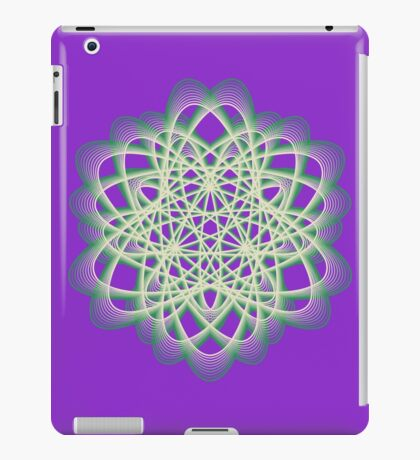Abstract Sea Green Spiral Lines iPad Case/Skin