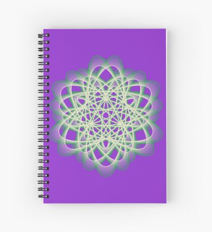 Abstract Sea Green Spiral Lines Spiral Notebook