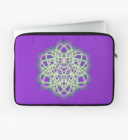 Abstract Sea Green Spiral Lines Laptop Sleeve