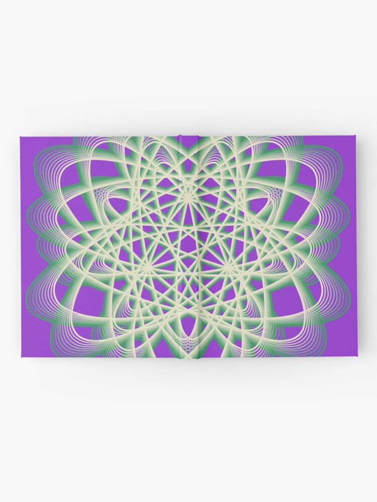 Alternate view of Abstract Sea Green Spiral Lines Hardcover Journal