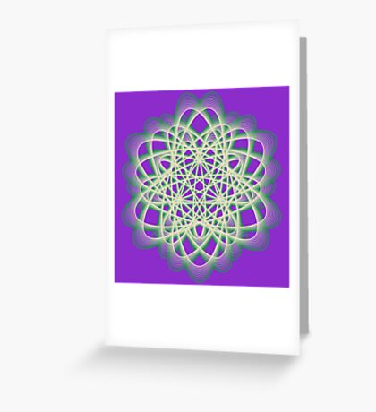 Abstract Sea Green Spiral Lines Greeting Card