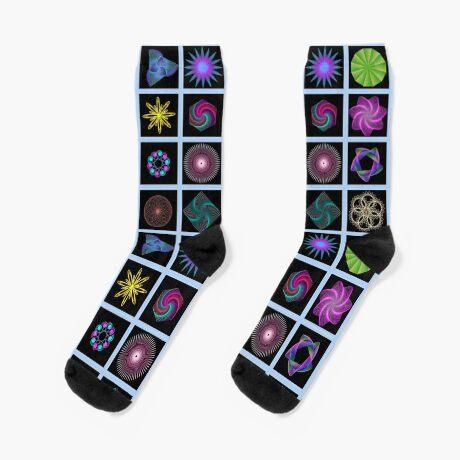 Beautiful colorful geometric shapes Socks