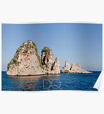 Faraglioni di Scopello - Sicilia Poster