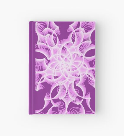Abstract flower in lilac Hardcover Journal