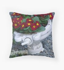 Potty Planter Throw Pillow