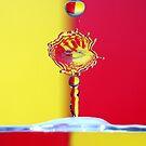 Red & Yellow Water Drops by VladimirFloyd