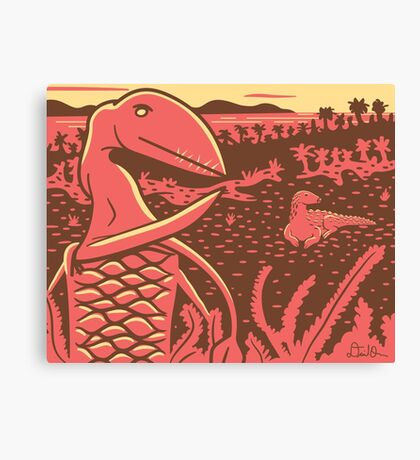 Dimorphodon and Scelidosaurus Canvas Print