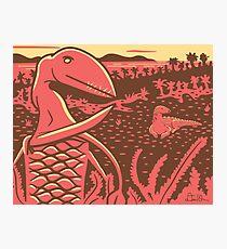 Dimorphodon and Scelidosaurus Photographic Print