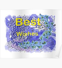 Best Wishes.Card. Poster