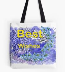 Best Wishes.Card. Tote Bag