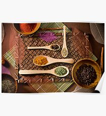 """""""Colorful Array of Spices"""" Poster"""