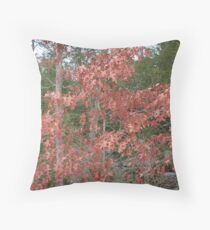 Hanging On - Oak Leaves in Mid-winter Throw Pillow