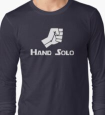 Hand Solo Type Parody Long Sleeve T-Shirt