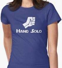 Hand Solo Type Parody Women's Fitted T-Shirt