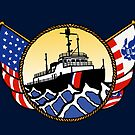 Flags Series - US Coast Guard Great Lakes Icebreaker by AlwaysReadyCltv