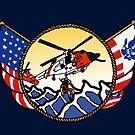 Flags Series - US Coast Guard MH60 Swimmer Hoist by AlwaysReadyCltv