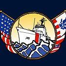 Flags Series - US Coast Guard 210 WMEC by AlwaysReadyCltv