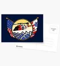 Flags Series - US Coast Guard MH-60 Jayhawk Postcards