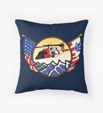 Flags Series - US Coast Guard MH-60 Jayhawk Throw Pillow