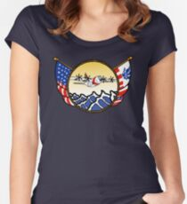 Flags Series - US Coast Guard C-130 Hercules Fitted Scoop T-Shirt