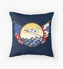 Flags Series - US Coast Guard HU-25 Guardian Throw Pillow