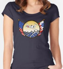 Flags Series - US Coast Guard HU-25 Guardian Fitted Scoop T-Shirt
