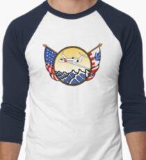 Flags Series - US Coast Guard HU-25 Guardian Baseball ¾ Sleeve T-Shirt