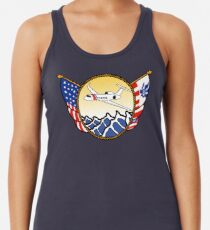 Flags Series - US Coast Guard HU-25 Guardian Racerback Tank Top