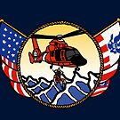 Flags Series - US Coast Guard HH-65 Swimmer Hoist by AlwaysReadyCltv