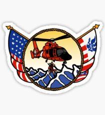 Flags Series - US Coast Guard HH-65 Swimmer Hoist Sticker