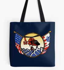 Flags Series - US Coast Guard HH-65 Swimmer Hoist Tote Bag
