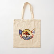Flags Series - US Coast Guard HH-65 Swimmer Hoist Cotton Tote Bag