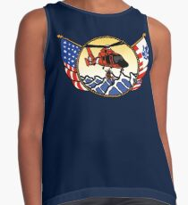 Flags Series - US Coast Guard HH-65 Swimmer Hoist Sleeveless Top