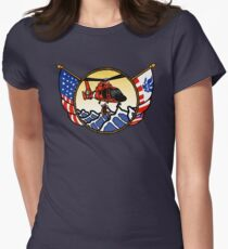 Flags Series - US Coast Guard HH-65 Swimmer Hoist Fitted T-Shirt
