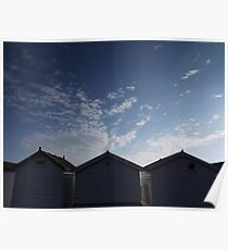 back to the beach huts Poster
