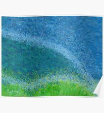 Dandelions in the Mower digital abstract painting Poster