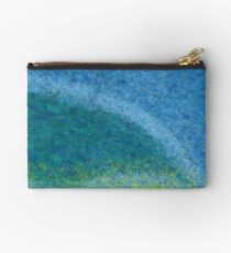Dandelions in the Mower digital abstract painting Studio Pouch