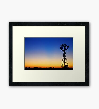Evening Falls Framed Print