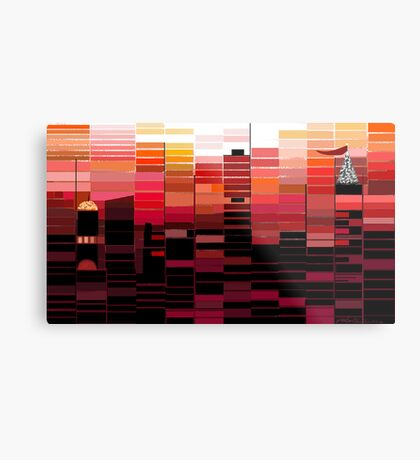 """Sunrise"" - Morning colors over the city. Metal Print"